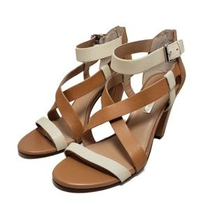 Audrey Brooke Carnabay-AB Tan Open Toe Sandals 10M